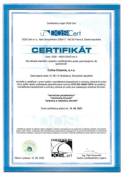 ISO 45001 BOZP 2020